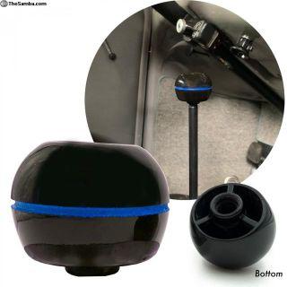 Black Hoffman Dimple Shift Knob W/ Blue Stripe