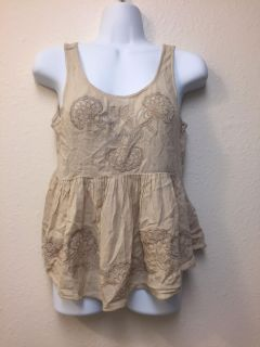 Abercrombie & Fitch Embroidered Tank Top Size Small