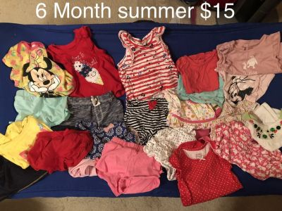 Baby girl 6 month summer clothes #2