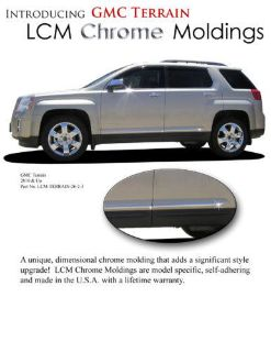 Sell GMC TERRAIN Lower Chrome Accent Body Side Mouldings Moldings Trim 2010-2014 motorcycle in Cleveland, Ohio, US, for US $129.20