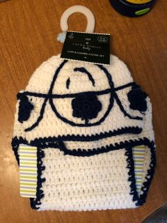 R2D2 diaper cover and hat