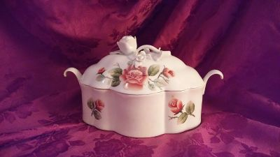 Covered casserole/side dish server
