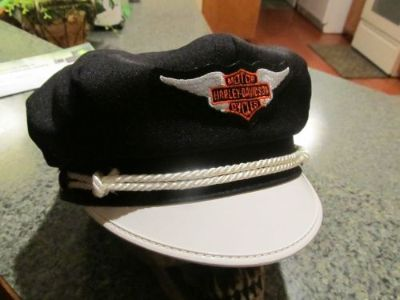 Sell VINTAGE STYLE BIKER ROAD CAPTAIN'S HAT/CAP - HARLEY BAR & SHIELD WING PATCH !! motorcycle in Livingston, Texas, United States, for US $148.00