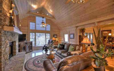 422 E Goldmine Rd Ellijay, Stunning Four BR/4.5 BA CUSTOM LOG