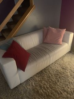 white sofa from IKEA decent condition.