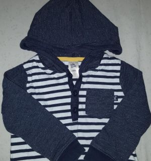 Baby B'gosh hooded one piece outfit 24M