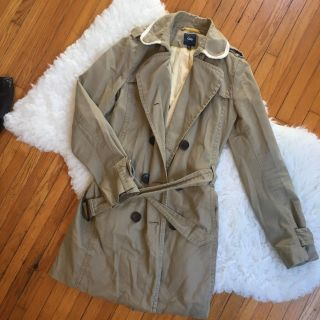 Gap lightly lined trench coat - small
