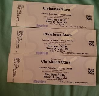 3 Tickets for Christmas Stars
