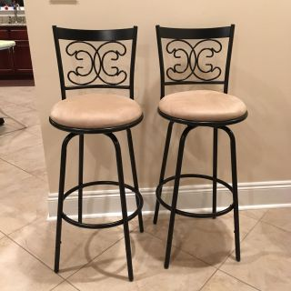 "New Set of Two 29"" Swivel Bar Stools"