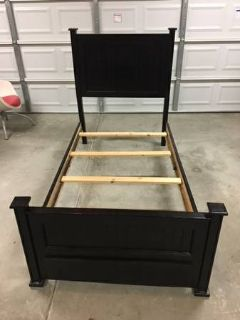 Wood Twin Bed Frame with Drawer