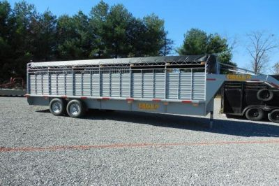 NEW 24 ft Circle W Cattle Trailer