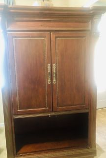 Huge entertainment center REAL WOOD
