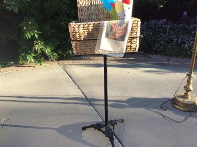 Nice rot iron plant or music stand