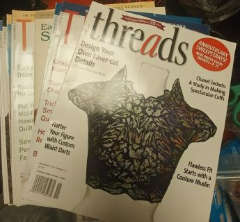 Threads sewing magazines