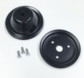 Buy SB Chevy Short Water Pump Black Steel 1 Groove Pulley Kit 283 327 350 V8 motorcycle in La Verne, California, United States, for US $39.95