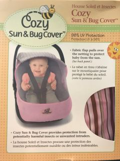 New in package sun & bug car seat cover