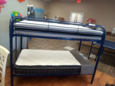 NEW-Blue Bunk Bed SET very sturdy