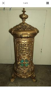ANTIQUE FRENCH PARLOR STOVE HEATER
