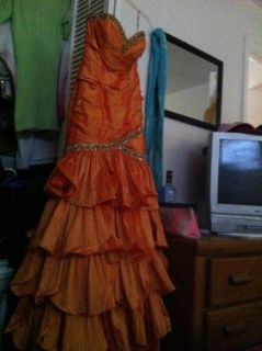 Orange diamond dressgown
