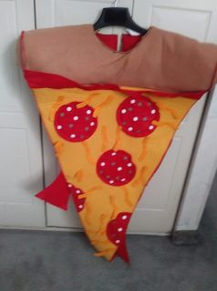 Slice of Pepperoni Pizza Halloween Costume Fits Adults and Most Children