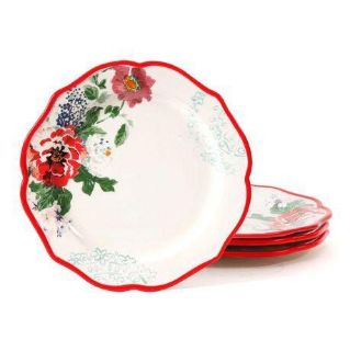 The Pioneer Woman Country Garden 10.5' Decorated Dinner Plates, Set of 4