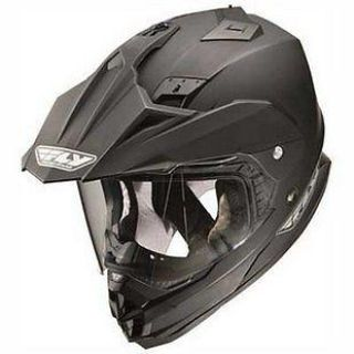 Purchase NEW FLY RACING TREKKER DUAL SPORT MOTORCYCLE MATTE BLACK HELMET SIZE: MD-2XL motorcycle in Kaukauna, Wisconsin, US, for US $125.50