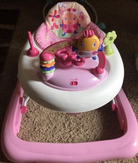 New Infant Pink Bright Starts JuneBerry Delight Walk-A-Bout Walker