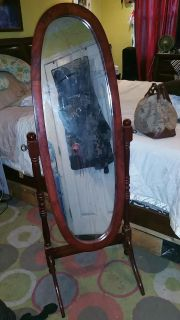 Wood free-standing mirror flash sale