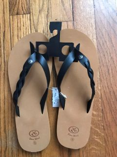 Brown/black brand new sandals size 9