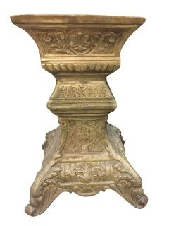 Antique Warm Golden Accents Pedestal