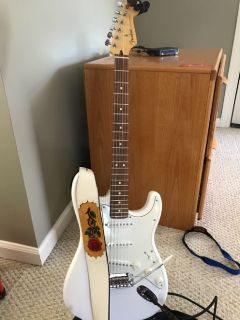 Guitars- Fender Strat and Washburn Electric-Acoustic
