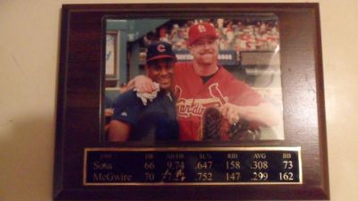 1998 Sosa McGwire photo plaque