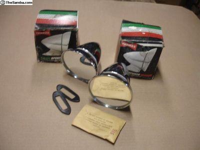 NOS Bullet Mirrors Yankee Porsche 911 Buggy Ghia