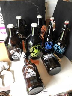 Lazy Dog Growler and Just Tap d Bottles