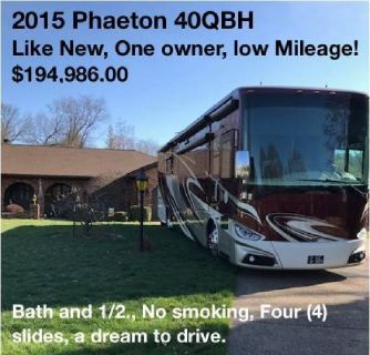 Buy from the Owner - 2015 Tiffin Phaeton 40QBH