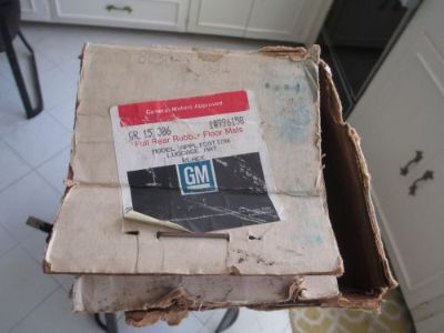 Sell '78 '79 Cadillac Fleetwood & Coupe/Sedan de Ville Trunk Rubber Floor Mat NOS OEM motorcycle in Pasadena, California, United States