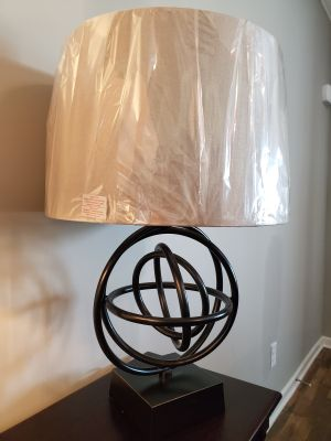 Dark bronze orbit lamps