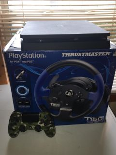 PS4 1TB with Thrustmaster T150 Wheel