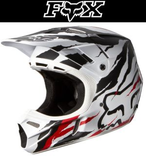 Buy Fox Racing V4 Forzaken Carbon Red White Dirt Bike Helmet Motocross MX ATV 2014 motorcycle in Ashton, Illinois, US, for US $549.95