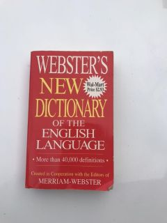 Webster s dictionary