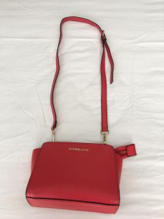Michael Kors small crossbody in red