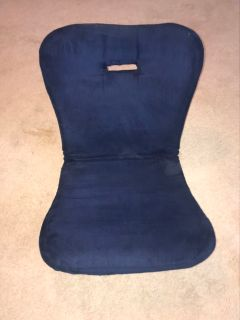 Blue Suede Gaming Chair
