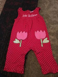 Wishes & kisses 6-9m red polka dot tulip overalls - ppu (near old chemstrand & 29) or PU @ the Marcus Pointe Thrift Store (on W st)