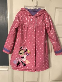 Minnie Mouse fleeced lined raincoat 5/6