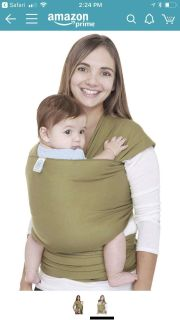 Moby wrap for baby carrying