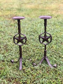 Lone star candle stands