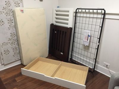Babyletto Mercer 3-in-1 Convertible Crib with Toddler Rail w/ mattress