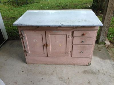 """Unique Vintage Cabinet, Top is 47"""" x 28.5"""", 32.5"""" tall"""