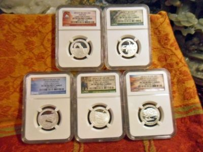2014 S America the Beautiful National Park Silver Quarters Early Releases PR 70 ULTRA CAMEO 5 Piece