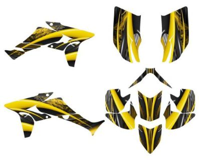 Sell TRX 450R graphics Honda 450 Quad custom wrap kit #3333 yellow motorcycle in Temecula, California, United States, for US $159.00
